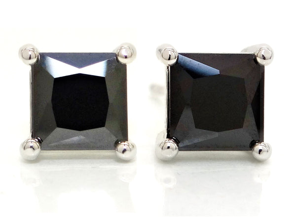 Black moonstone princess earrings