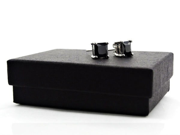 Black moonstone princess earrings GIFT BOX