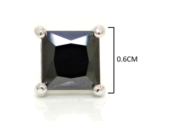 Black moonstone princess earrings MEASUREMENT