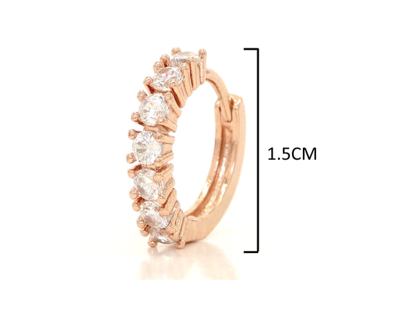 Rose gold hoop earrings MEASUREMENT