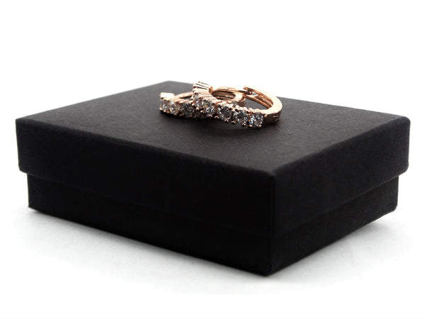 Rose gold hoop earrings GIFT BOX