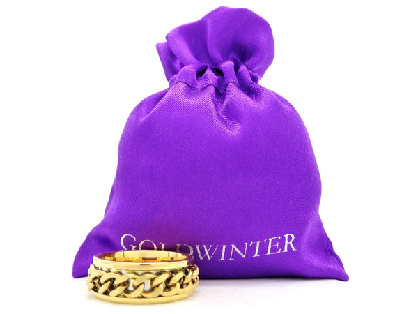 Yellow gold chain ring GIFT BAG