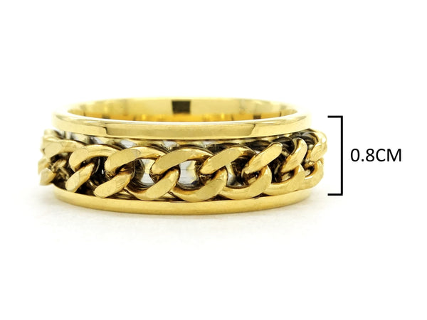 Yellow gold chain ring MEASUREMENT