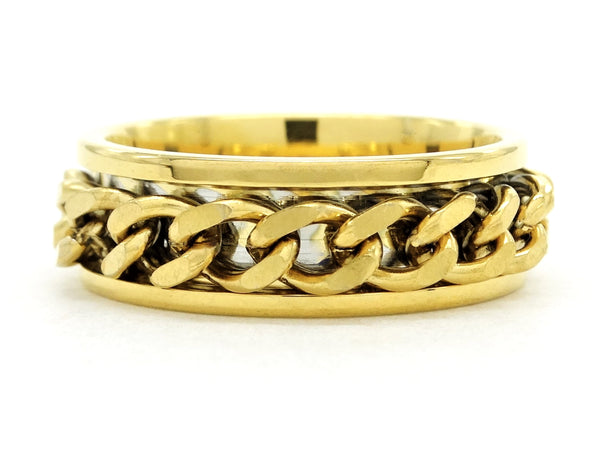 Yellow gold chain ring MAIN