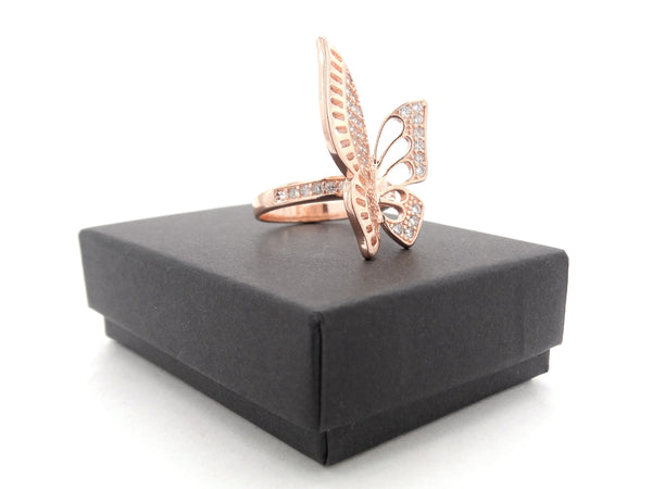 Rose gold butterfly wings ring GIFT BOX