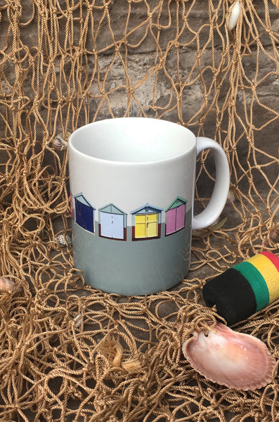 Beach Hut Ceramic Mug - Sea Green