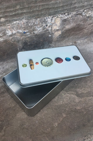 Handy Buttons Storage Tin