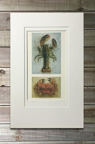 Crab & Lobster Print