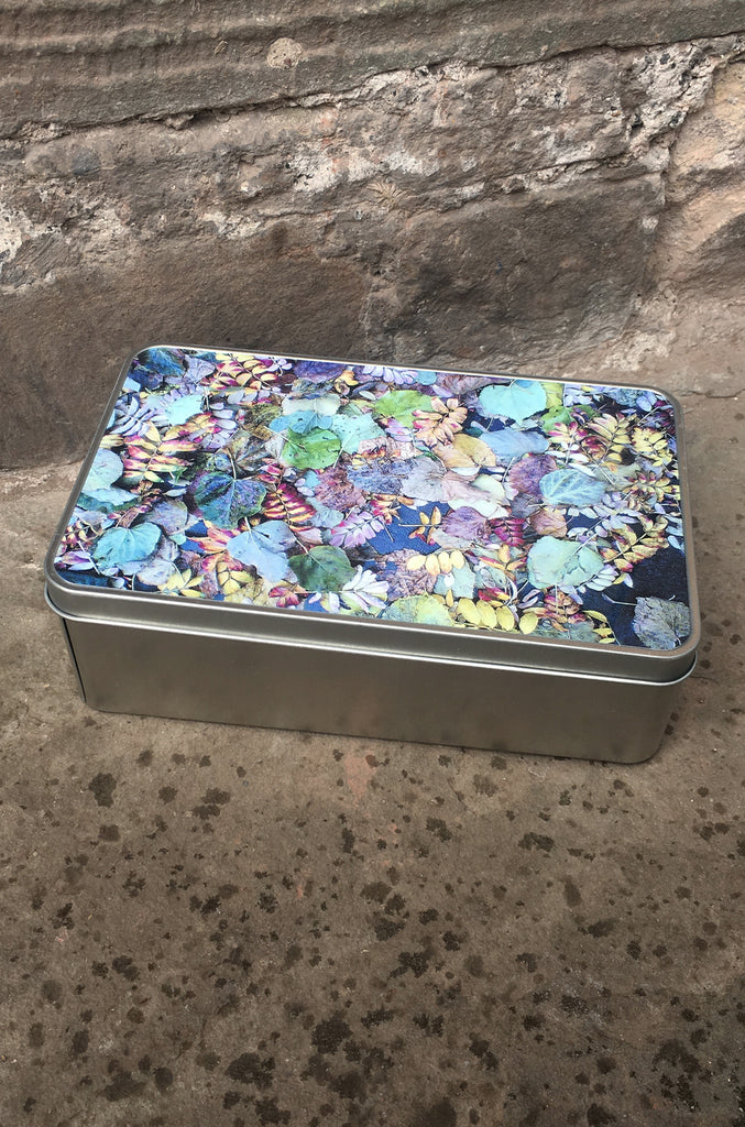 Leaf Garden Storage Tin