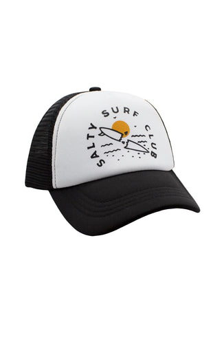 Feather 4 Arrow Salty Surf Club Youth Hat- Black/White