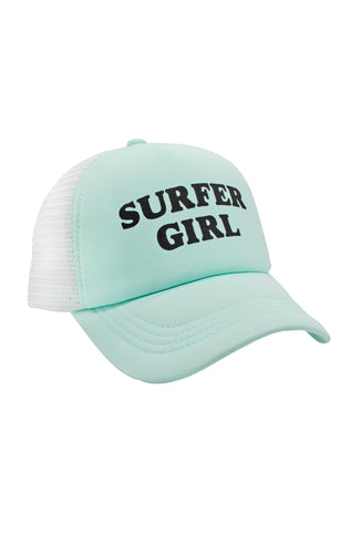 Feather 4 Arrow Surfer Girl Youth Hat- Yucca Mint
