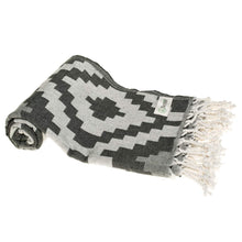 "Bersuse ""Barbados"" Turkish Towel with Pocket, Black"