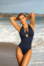 Charmosa Camille Reversible Hand Dyed One Piece - Tie Dye Aruba / Navy