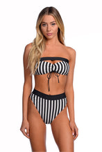 Kya Swim Isla Reversible Bottom - (Noir Stripe / Black)