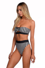 Kya Swim Ella Revesible Top - (Noir Stripe / Black)