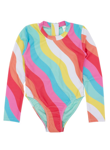Feather 4 Arrow Wave Chaser Surf Suit LS- Tropical