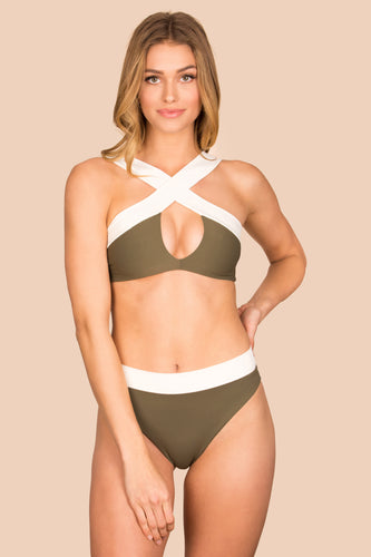Kya Swim Coco Reversible Top - (Palm / Shell)
