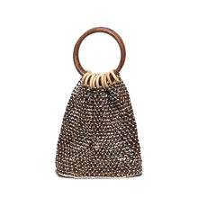 "Nikki Beach ""Marbella"" Bag - Dark / Light Wood"