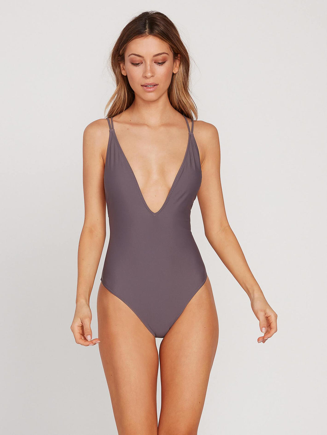 Volcom Simply Solid 1 Piece - Steel Purple