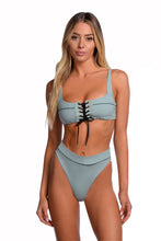 Kya Swim Yacht Reversible Top - (Mist / Shell)