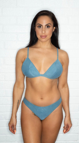Poema Swim Lily Bottom - Azure Suede