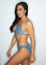 Poema Swim Amy Top - Azure Suede