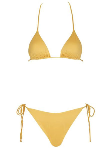 Monica Hansen Beachwear That 90's Vibe Padded Triangle Top - Gold