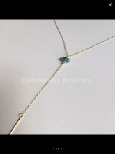 Poolside Necklace (Turquoise & Gold)