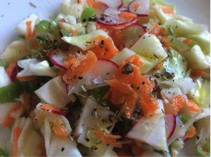 Coleslaw with Juniper Berry and Rosemary Salt