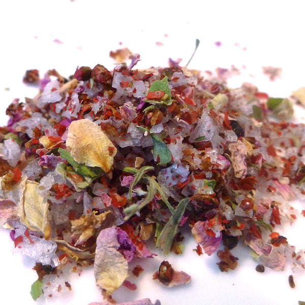 Pink Peppercorn and Rose Petal Sea Salt