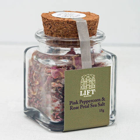 Pink Peppercorn & Rose Petal Sea Salt - Lift Flavours