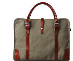 Classic Cow Leather/Canvas Bag