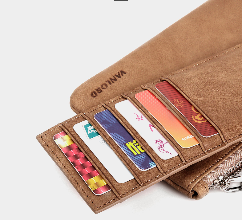 Smart Genuine Leather Unisex Wallet