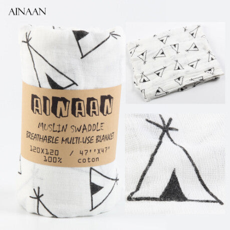 Ainaan Muslin Cotton Baby Swaddles