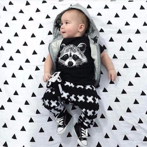 2pcs Raccoon Outfit