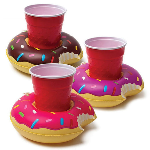 "Inflatable Cup Holder ""Doughnut"""