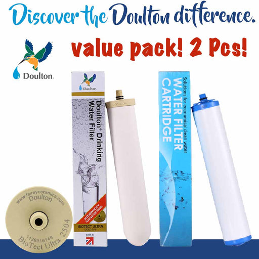 VALUE PACK! DOULTON BIOTECT ULTRA 2504 + KDF FILTER WATER TREATMENT WATER CARTRIDGE