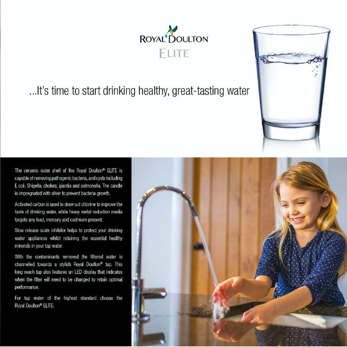 Royal Doulton Elite Naturally Healthy Minerals Drinking Water Filters System (IN-Counter) Complete System (EXCLUDE INSTALLATION)