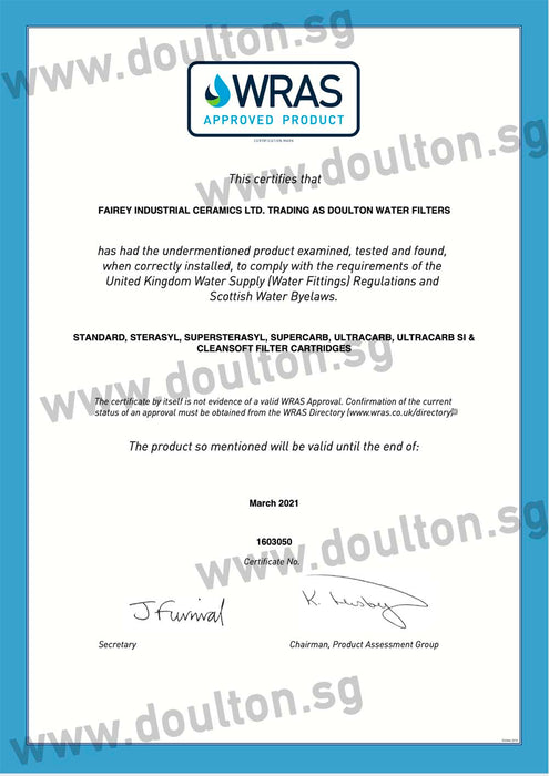 10% OFF - VALUE PACK! DOULTON UCC 9504 + DOULTON FLUORIDE REDUCTION WATER TREATMENT WATER CARTRIDGE