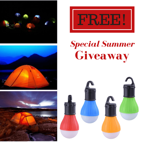 FREE Hanging LED Light for Outdoor Tent