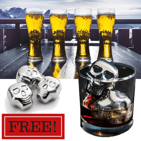 FREE Skull Coolin' Cube for Beer