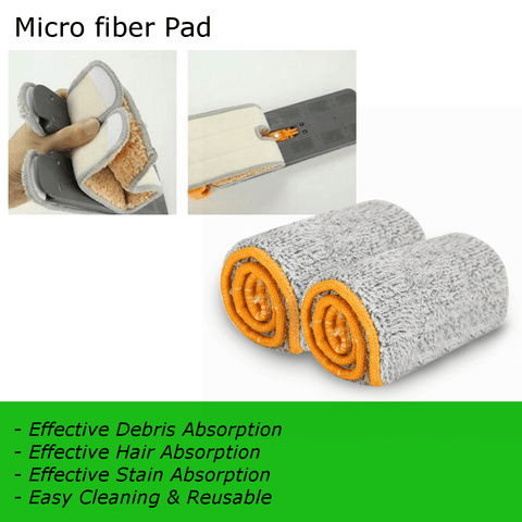 Additional 2PCS Microfiber Pad/Cloth for Easy Mop (Replacement)