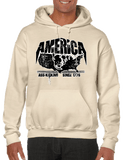 America A$$ Kicking Since 1776 Pullover Hoodie Hooded Sweatshirt - Vovo Inc