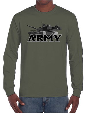 U.S. Army Pride Honor Courage Bravery Served Long Sleeve T-Shirt - Vovo Inc