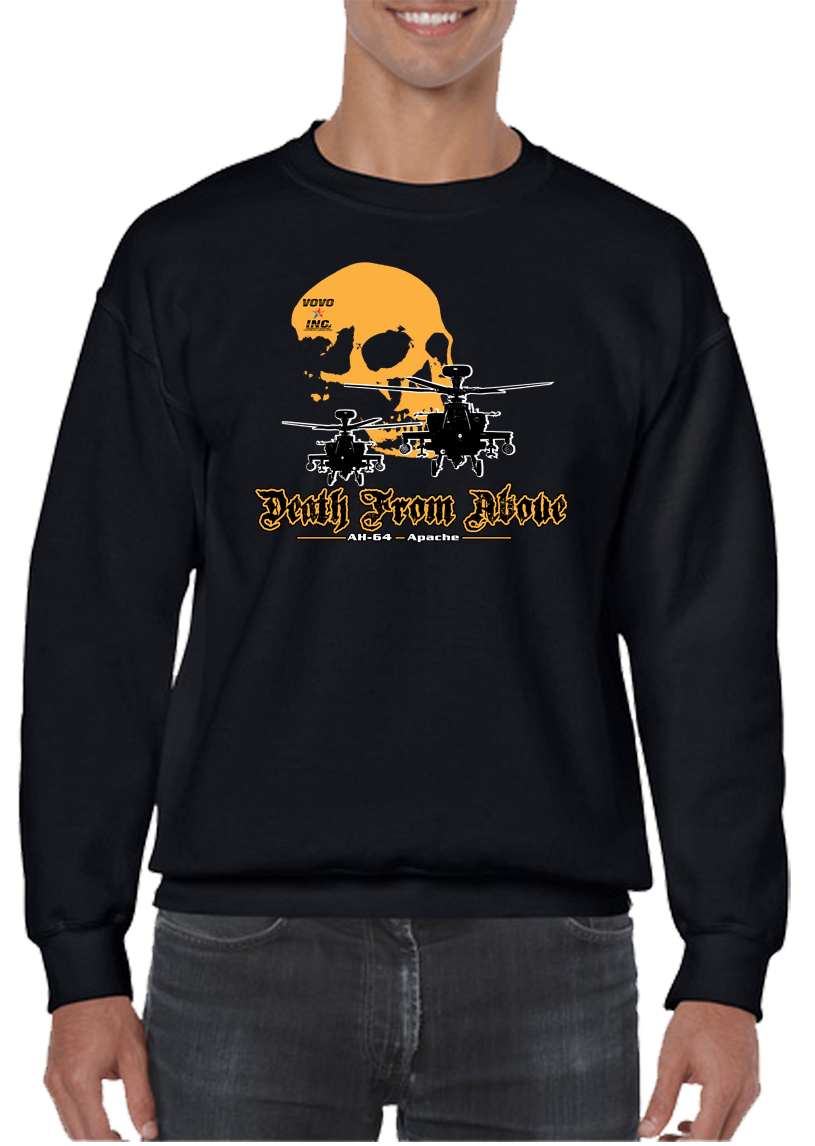 Death From Above Military Air Assault Crew Neck Sweatshirt - Vovo Inc