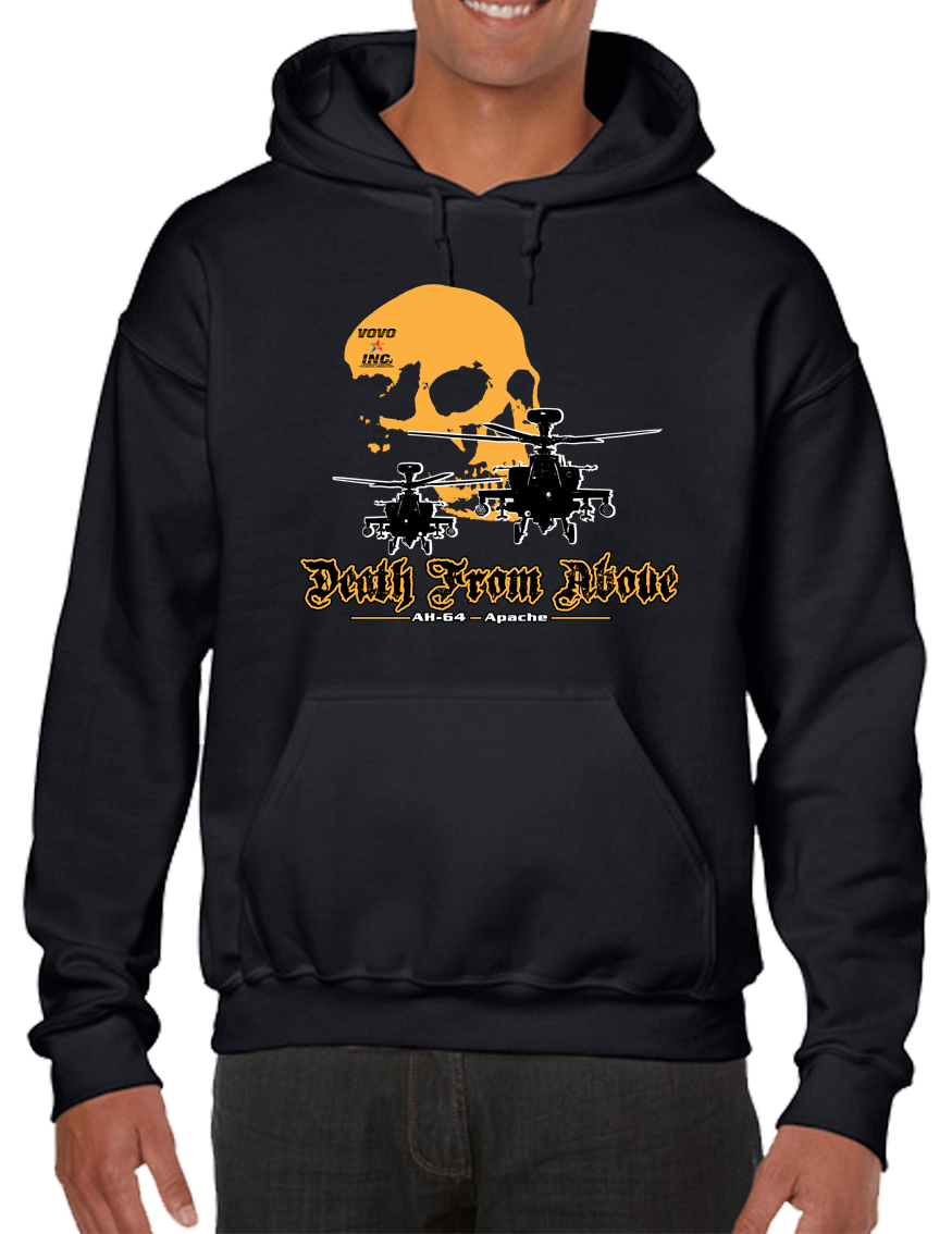 Death From Above Military Air Assault Pullover Hoodie Hooded Sweatshirt