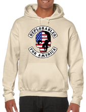 Deplorables For America Skull Pullover Hoodie Hooded Sweatshirt - Vovo Inc