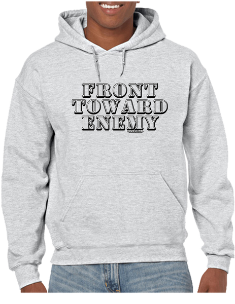 USA Military Front Towards Enemy Pullover Hoodie Hooded Sweatshirt - Vovo Inc
