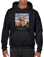 9/11 Never Forgotten Hoodie Hooded Pullover Sweatshirt - Vovo Inc
