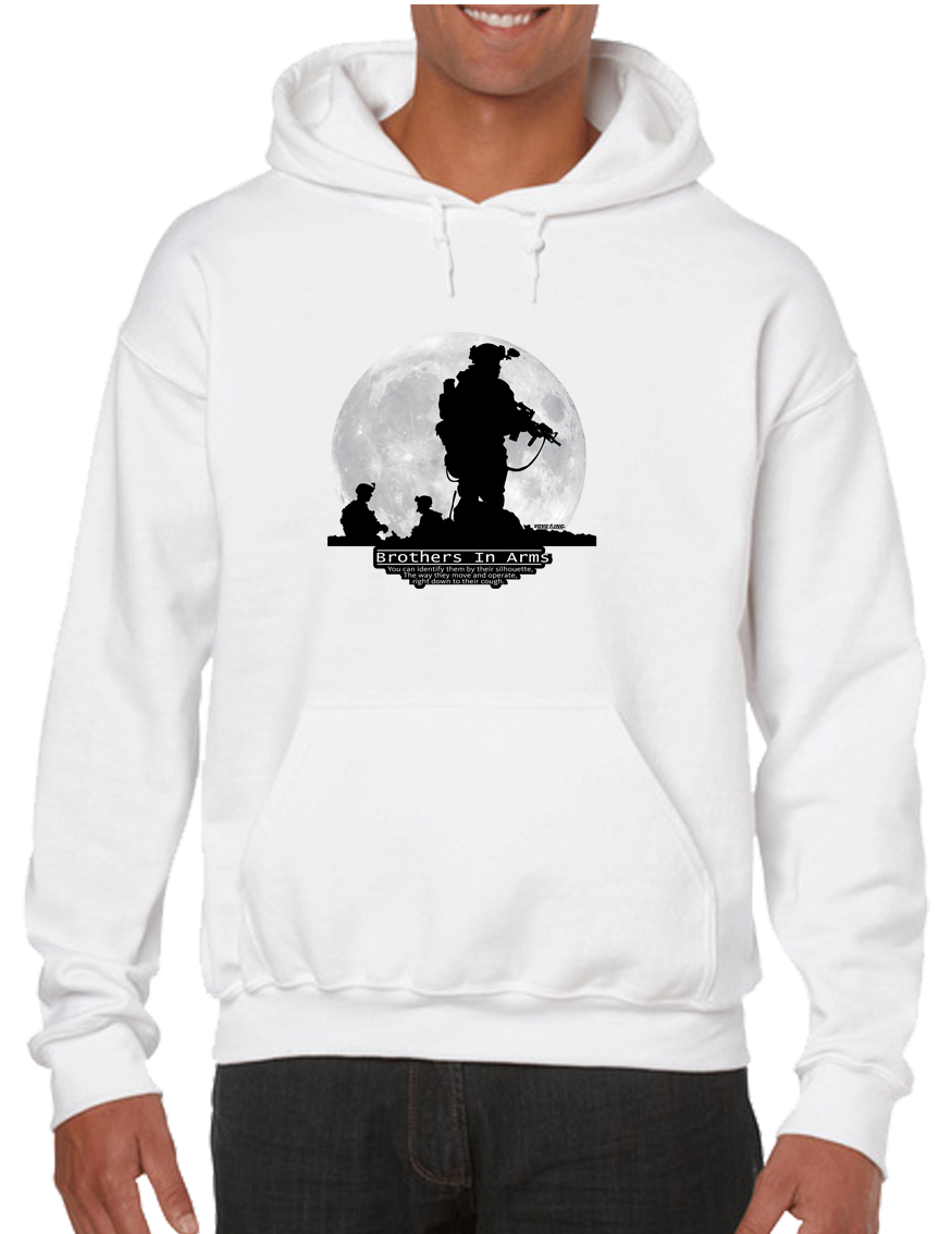 Brother In Arms Hoodie Hooded Pullover Sweatshirt - Vovo Inc